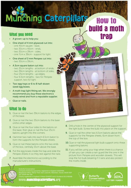 How To Build A Moth Trap (PDF)
