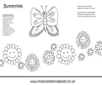 Butterfly Colouring In