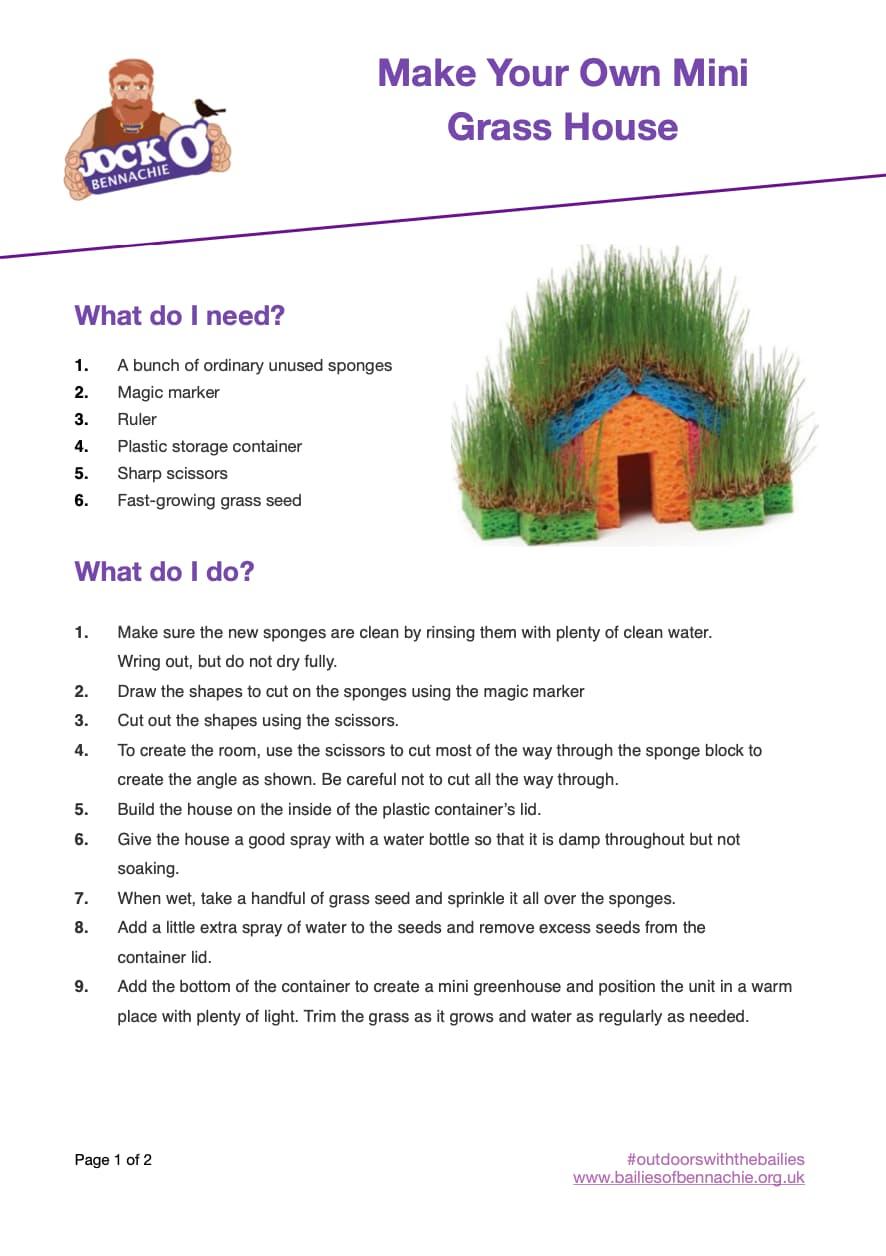 Mini Grass Houses for Kids