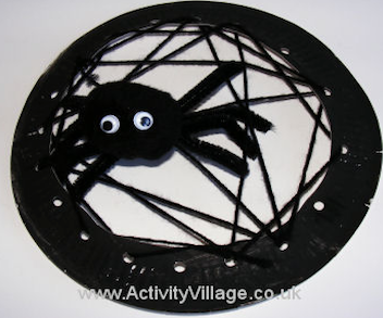 Make a Paper Plate Spider Web