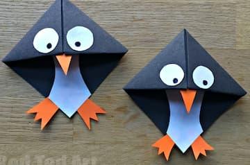 Make A Penguin Bookmark Corner