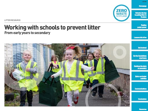 Working With Schools to Prevent Litter